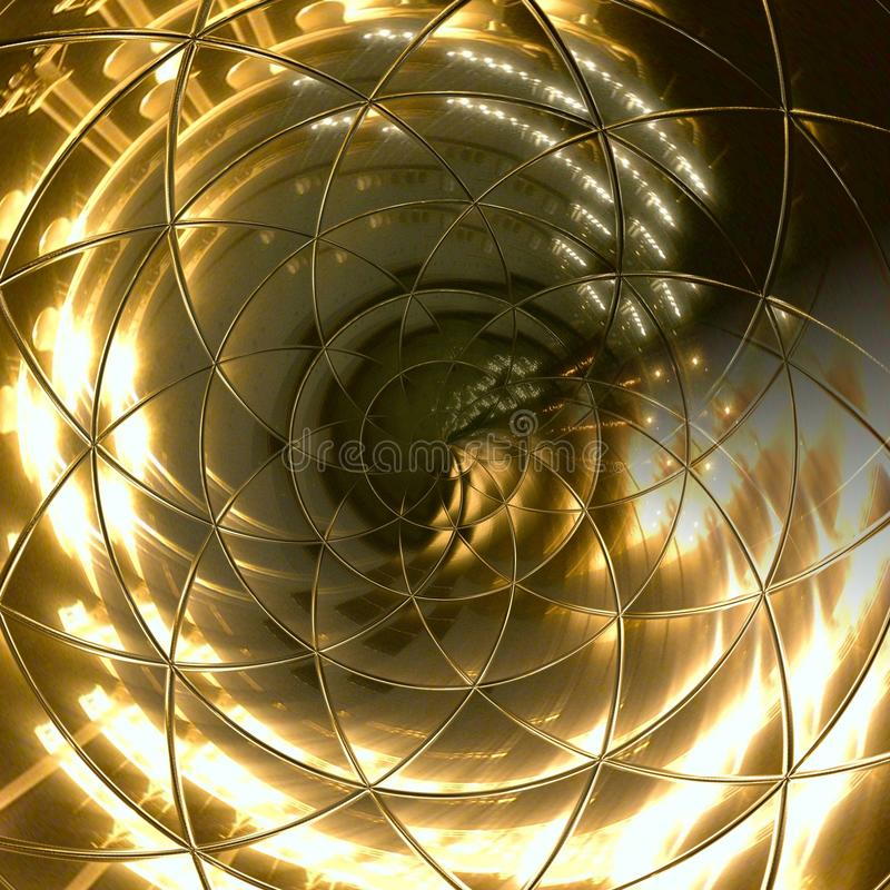 Lightning White Gold Abstract Background royalty free illustration
