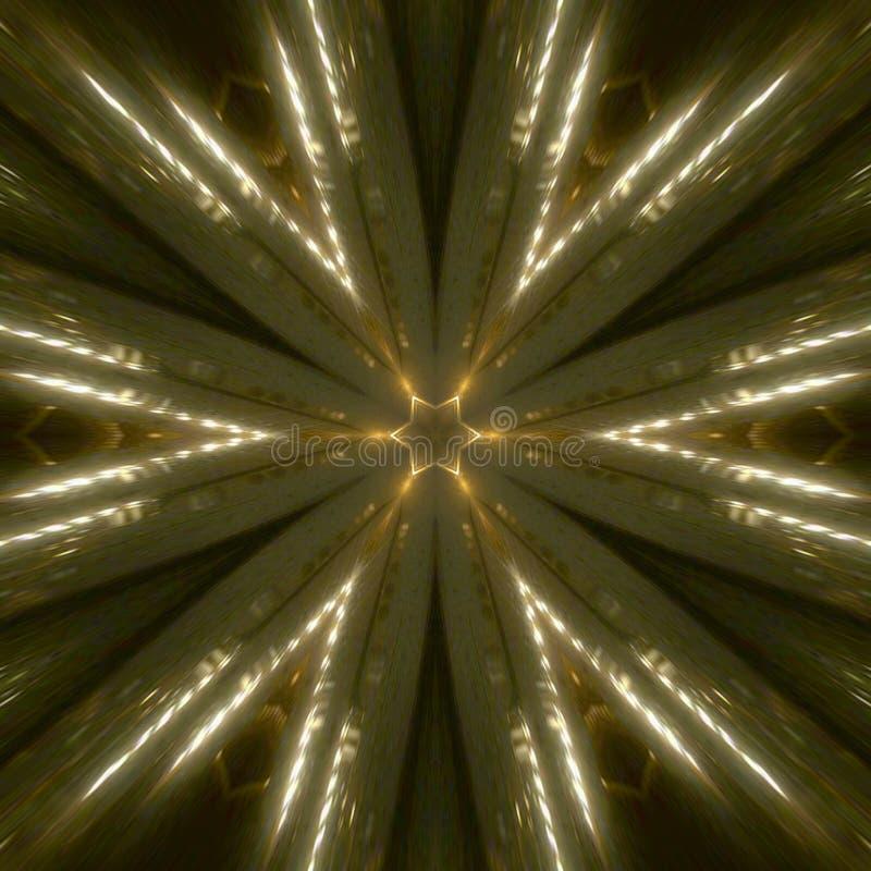 Lightning White Gold Abstract Background stock illustration