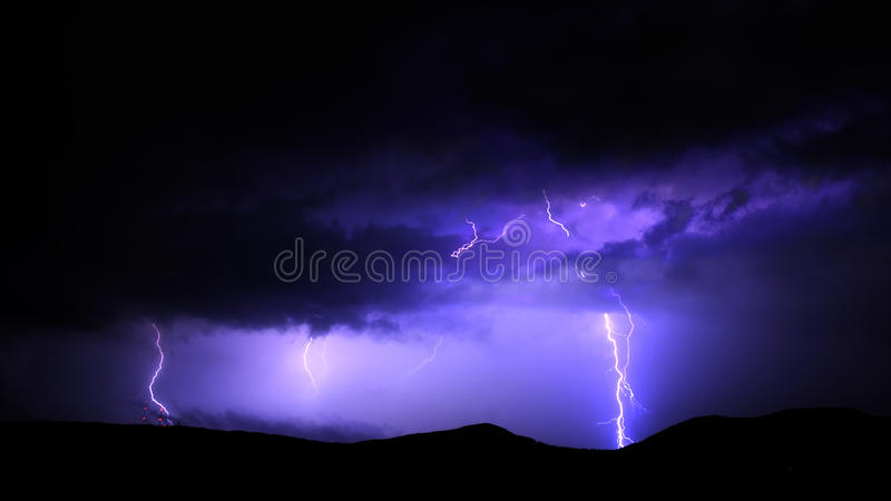 Lightnings stock photography