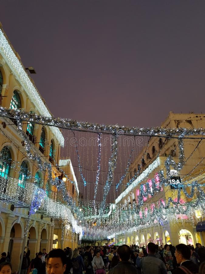 Lightninh de la calle foto de archivo