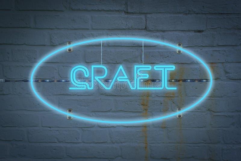 Lighton de néon a parede com a palavra OFÍCIO imagens de stock royalty free