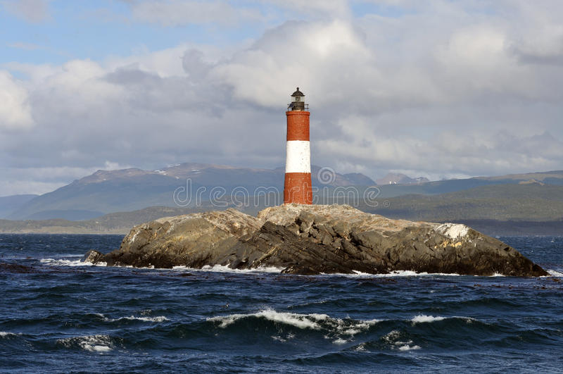 Lightouse on Beagle Channel - Patagonia, Argentina stock photography