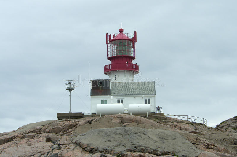 Lightouse in Lindesnes royalty-vrije stock afbeelding