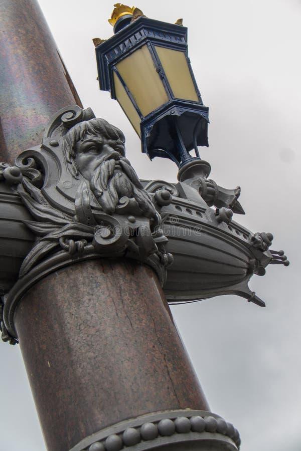 Lightpost w Amsterdam fotografia royalty free