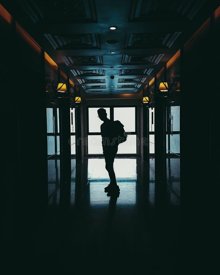 Lightroom pubblica il corridoio immagine stock