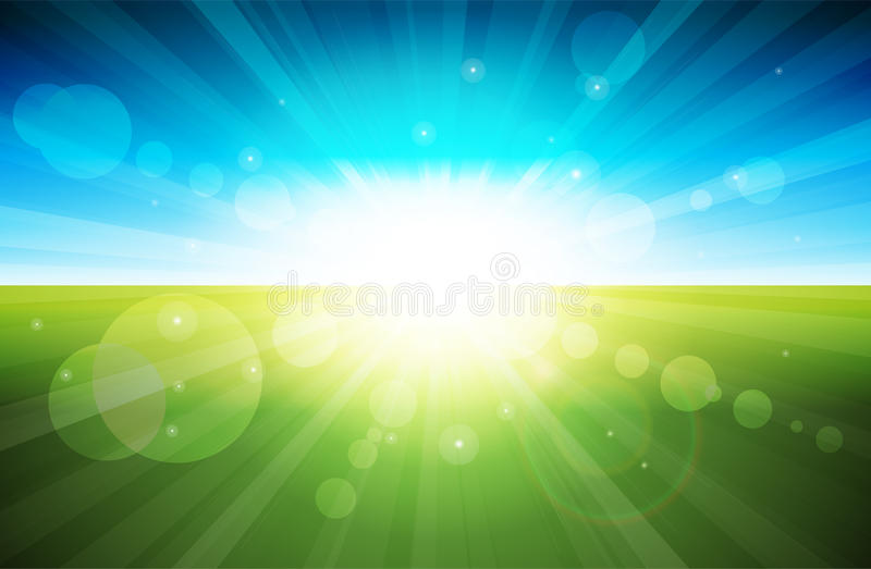 Download Lights On stock vector. Illustration of landscape, discovery - 19597272