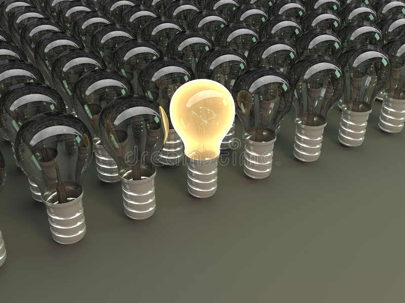 Download Lights stock illustration. Image of lightbulb, watt, light - 8896632
