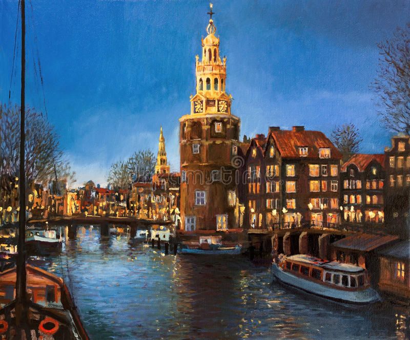 The Lights of Amsterdam royalty free stock image