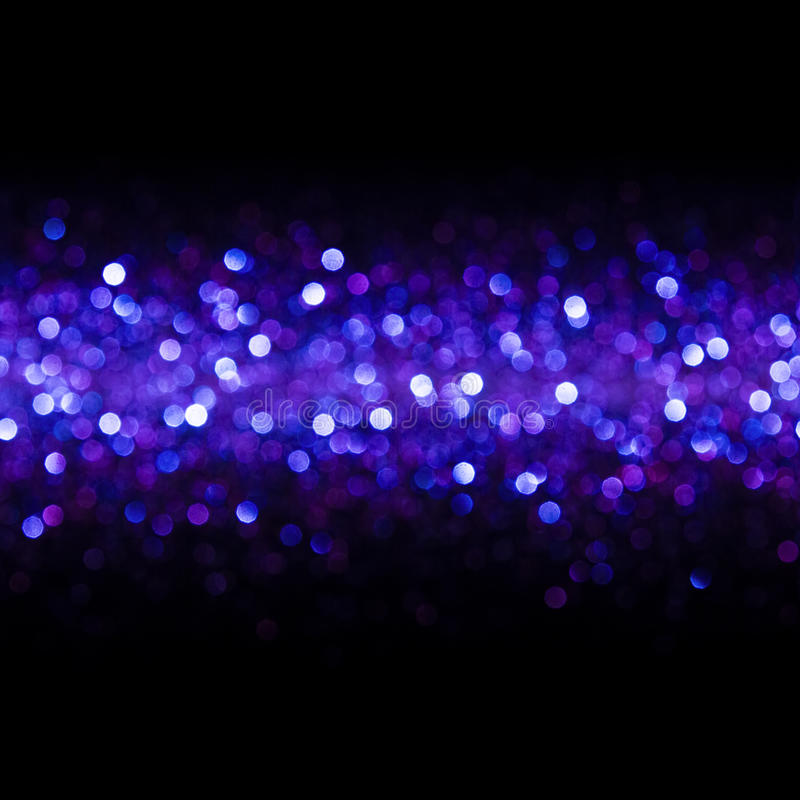 Lights Background, Abstract Seamless Blur Light Bokeh, Blue Glow stock image