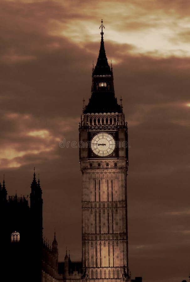 Lights of Big Ben at Dusk - London stock photography