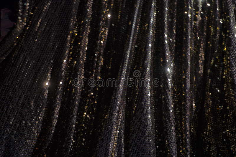 Lights on black bokeh royalty free stock photography