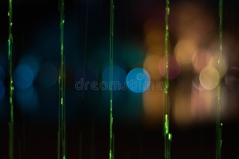 lights in bokeh royalty free stock photo