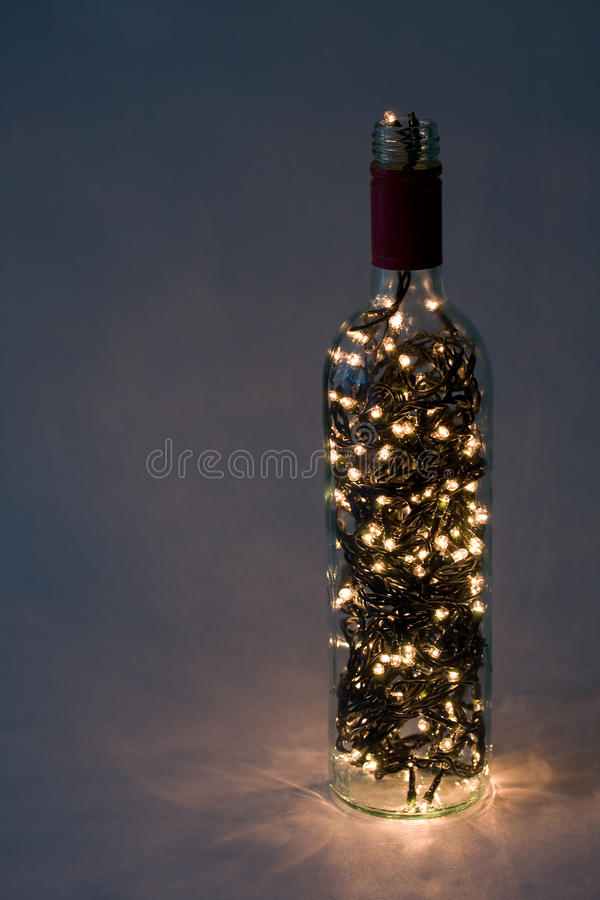 Lights in a bottle royalty free stock photo