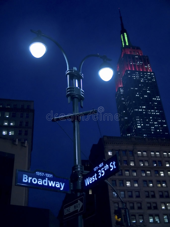Lights On Broadway stock photography