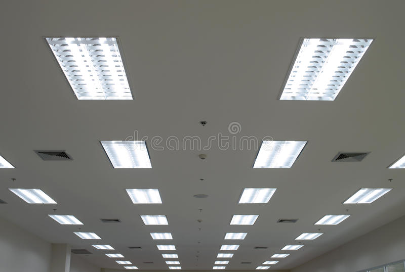 Lights from ceiling stock image