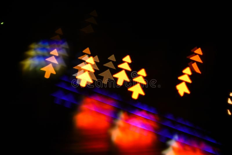Lights of christmas garland blurred on black background. Christmas concept. Lights of colorful garland blurred as royalty free stock photos