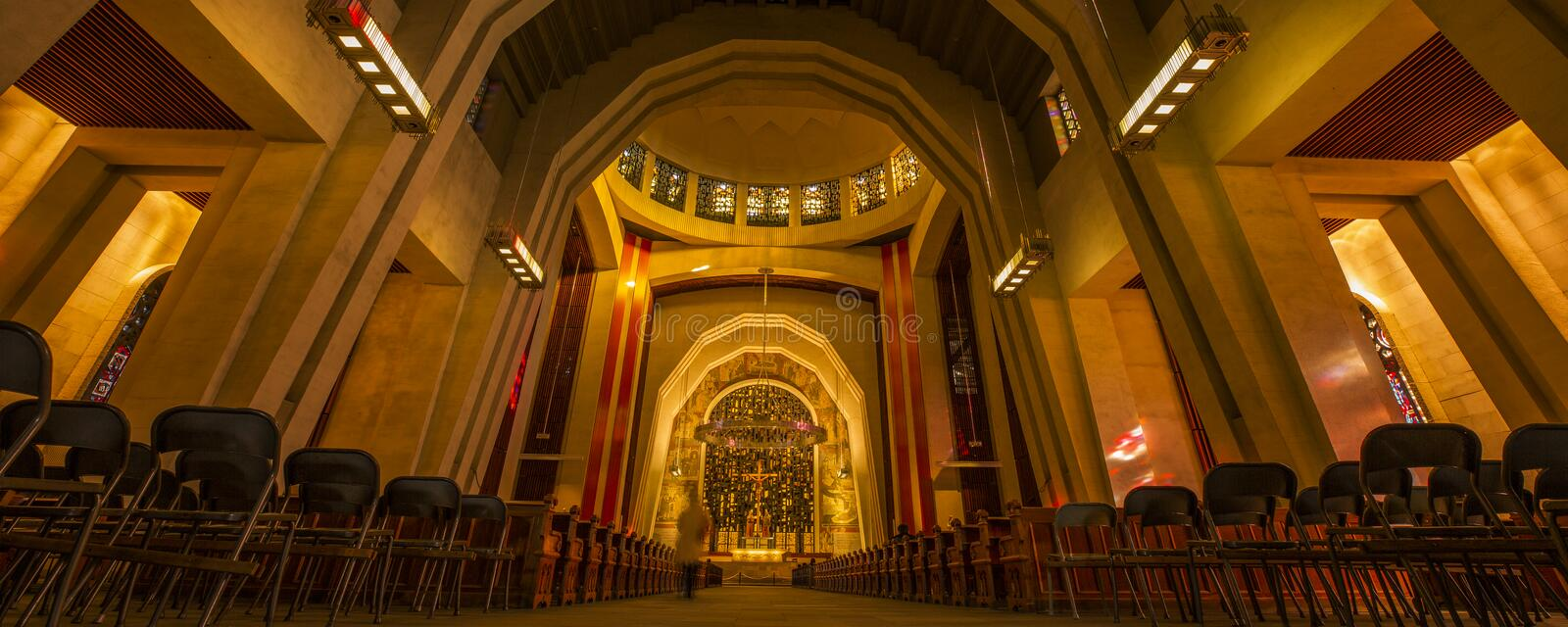 The lights in the church. Do not know from when to start, the church lights gave me a deep impression, it is sacred and solemn, it is noble and gorgeous royalty free stock photo
