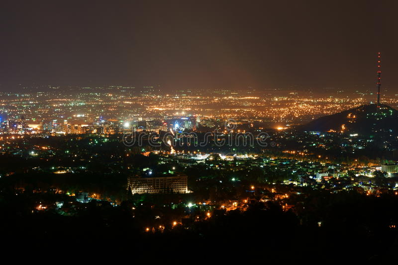 Download Lights Of The City At Night Stock Photo - Image: 25862382