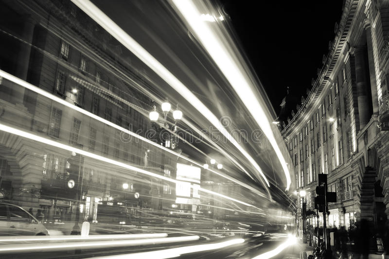Lights of a city at night. stock images