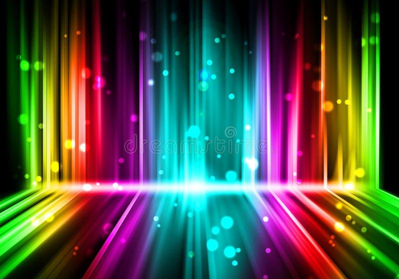 Lights Colorful background royalty free illustration
