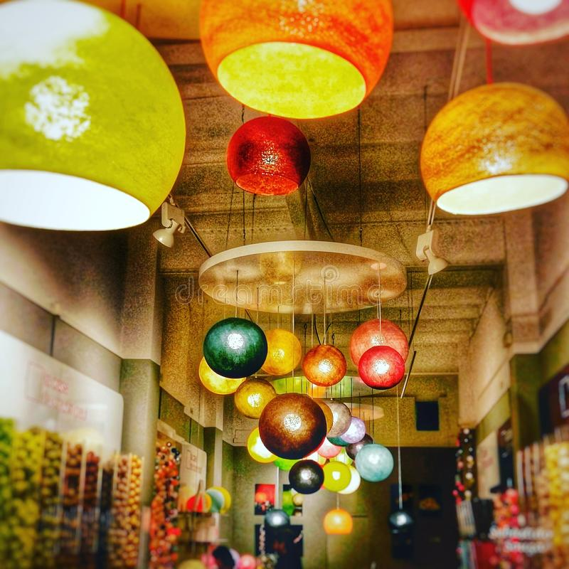 LIGHTS COLORS royalty free stock photos