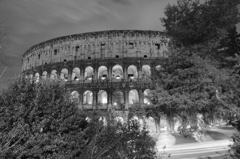 Lights of Colosseum at Night