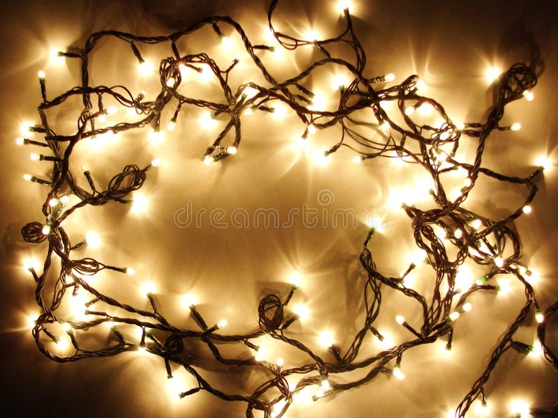 Lights in the darkness stock image