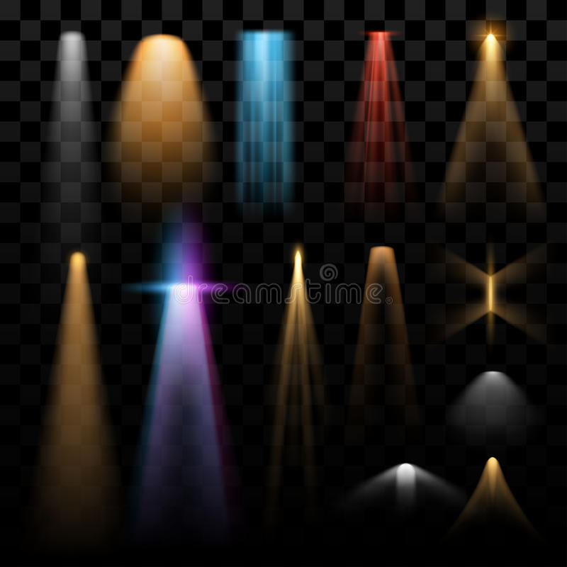 Lights effects. Different lights effects in vector vector illustration
