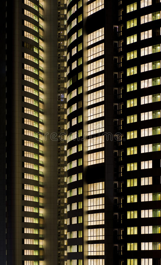 Download Lights on - everybody home stock photo. Image of apartments - 10962200