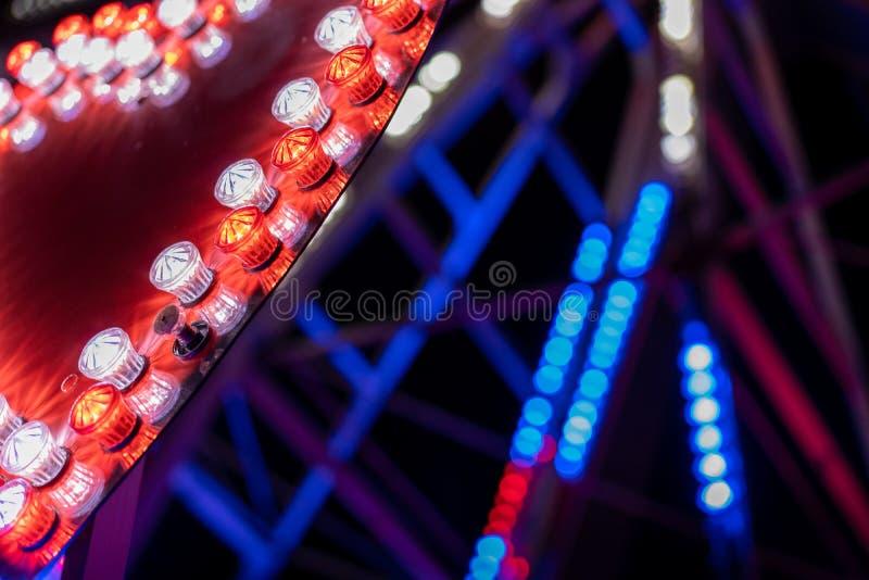 Lights of a ferris wheel royalty free stock photo