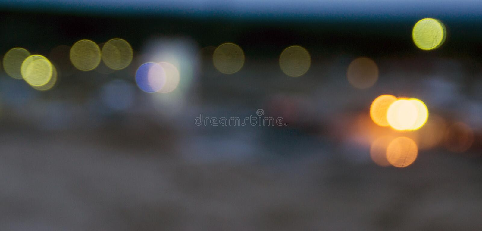 Lights form bokeh effect royalty free stock images