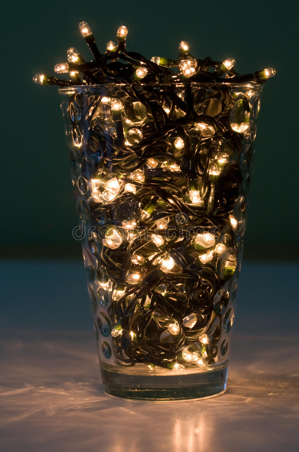 Lights in a glass royalty free stock images