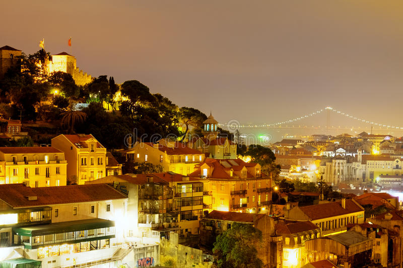 The lights of Lisbon royalty free stock images