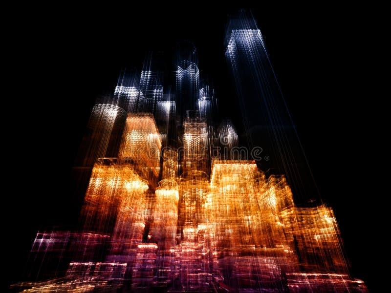 Download Lights of Metropolis stock illustration. Image of office - 21934218