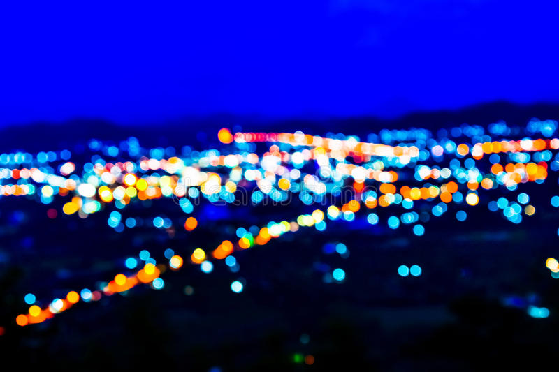 Lights at night. Colorful Blurred lights at night royalty free stock photography