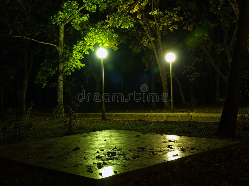lights night park στοκ εικόνες με δικαίωμα ελεύθερης χρήσης