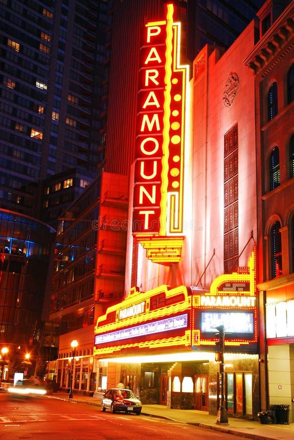 Paramount Theater, Boston royalty free stock photos