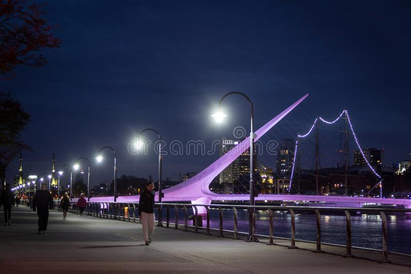 The lights of Puerto Madero stock photos