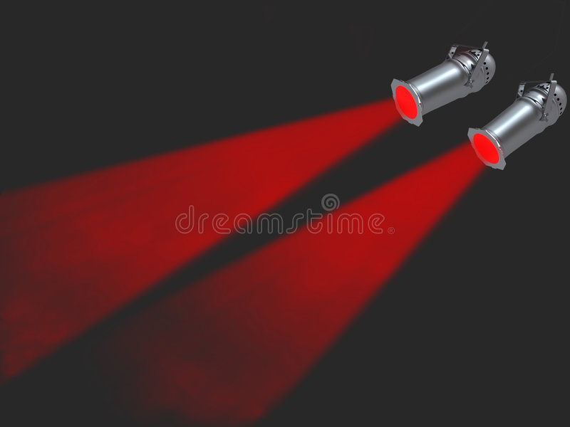lights red spot two απεικόνιση αποθεμάτων