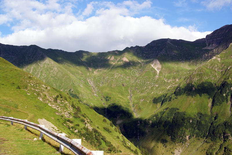 Lights and shadows in fagaras mountains royalty free stock photo
