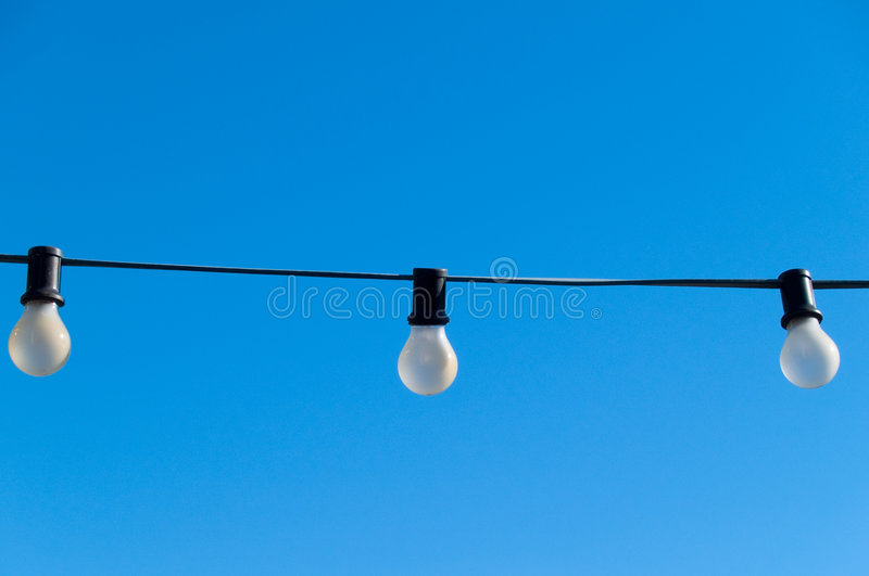 Lights in the sky royalty free stock photos