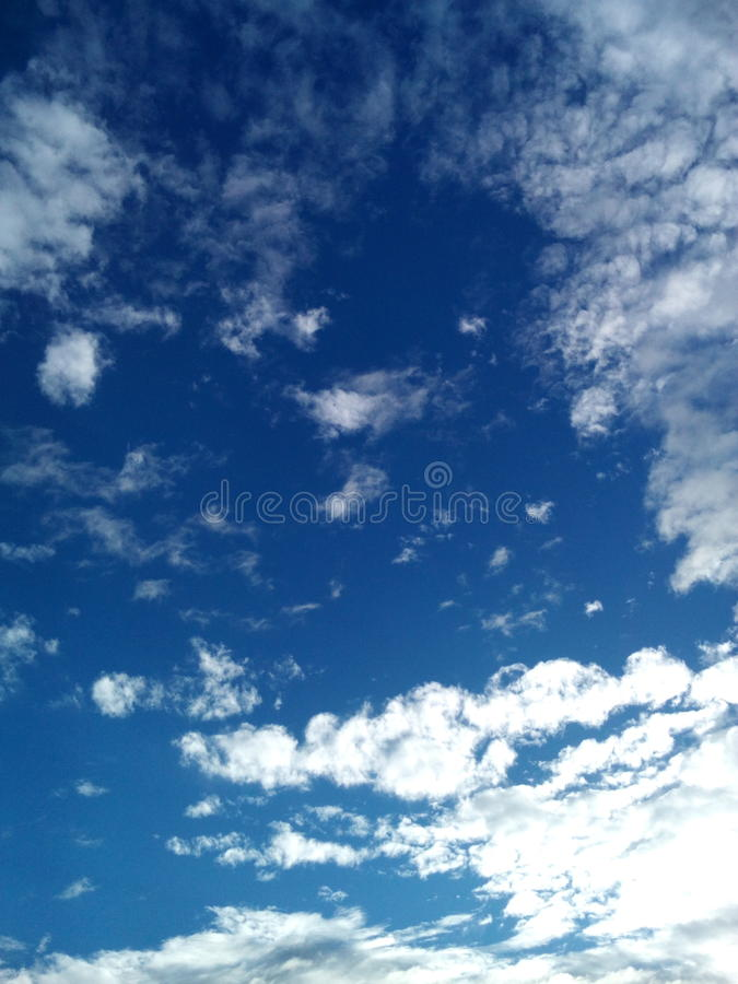 Bright sky stock photography