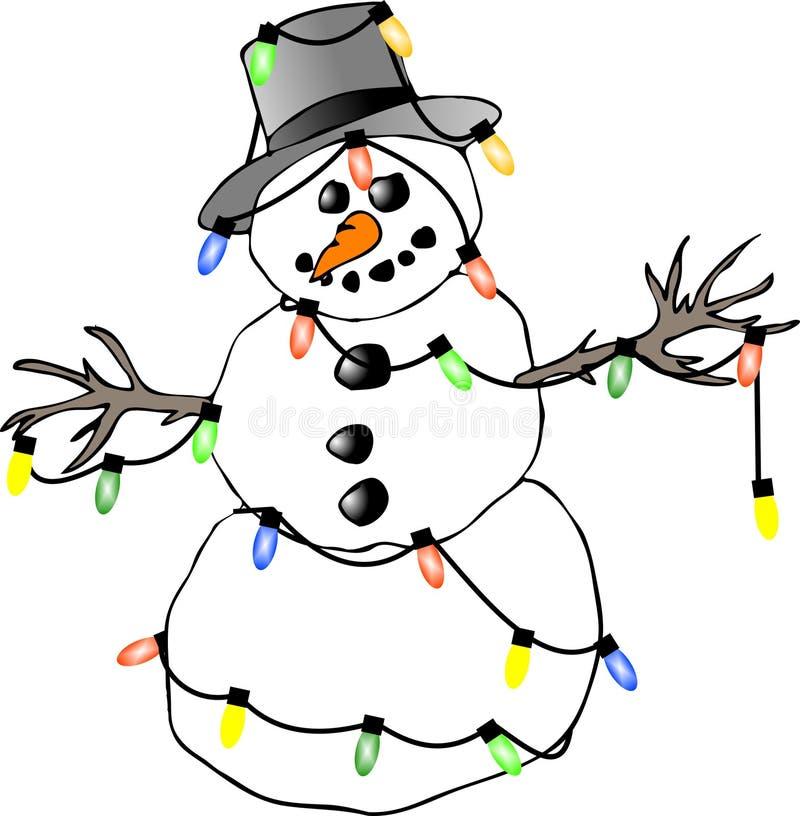 lights snowman απεικόνιση αποθεμάτων