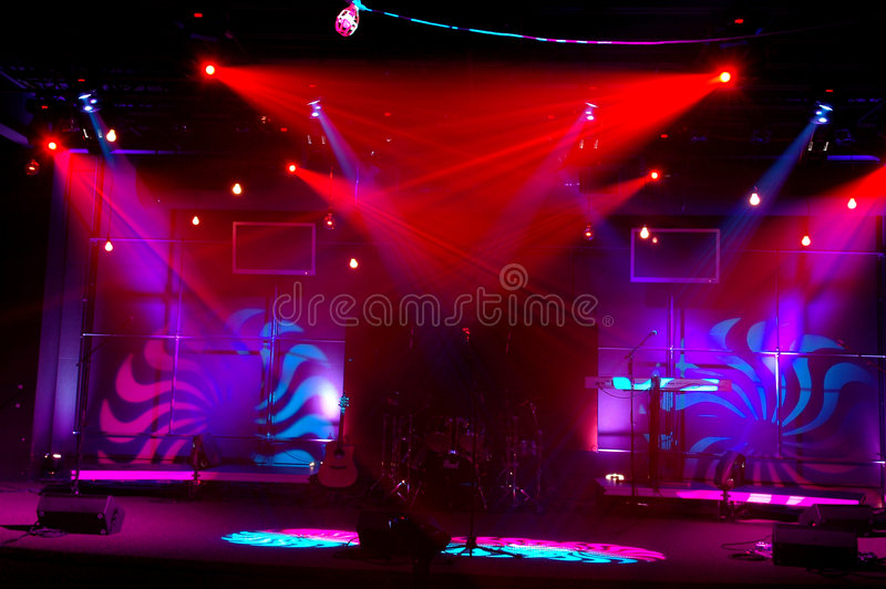 Download Lights on Stage stock photo. Image of pretty, decoration - 3572804