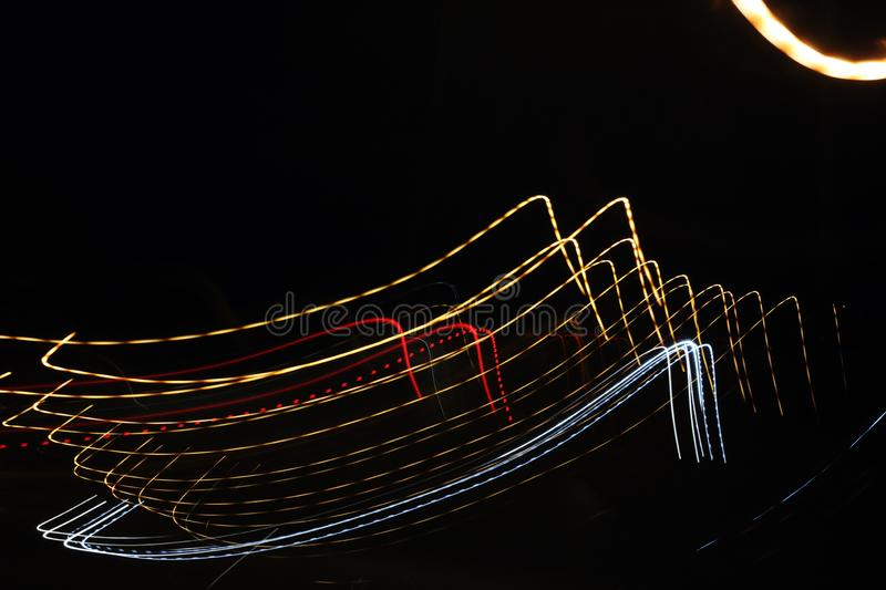 The Lights On The Street At Night While The Car Is Moving Stock Image Image Of Blue Blur 153663305