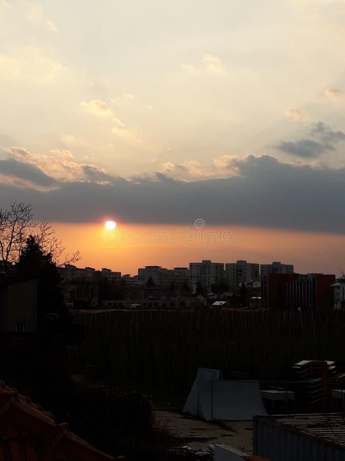 Sun city clouds sky stock images