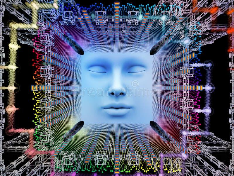 Lights of Super Human AI vector illustration
