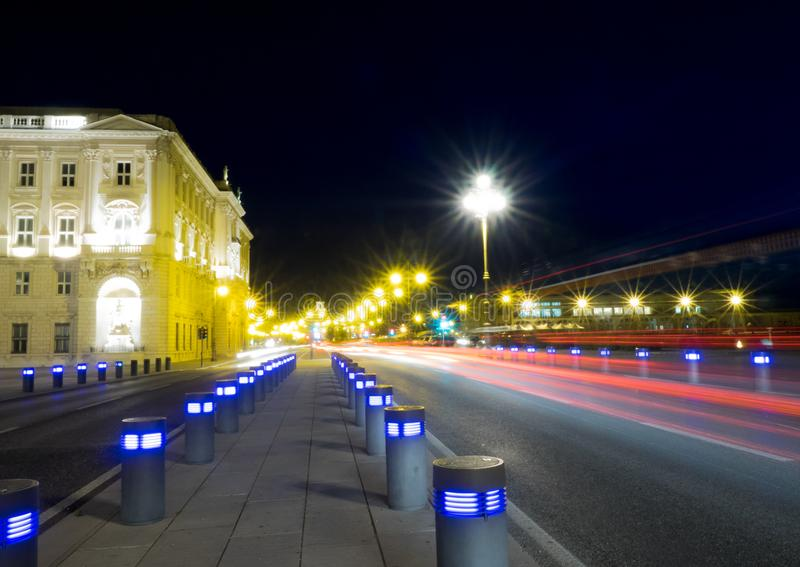 Lights in Triest stock photo