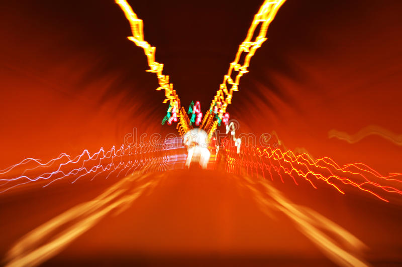Lights In Tunnel Stock Photo
