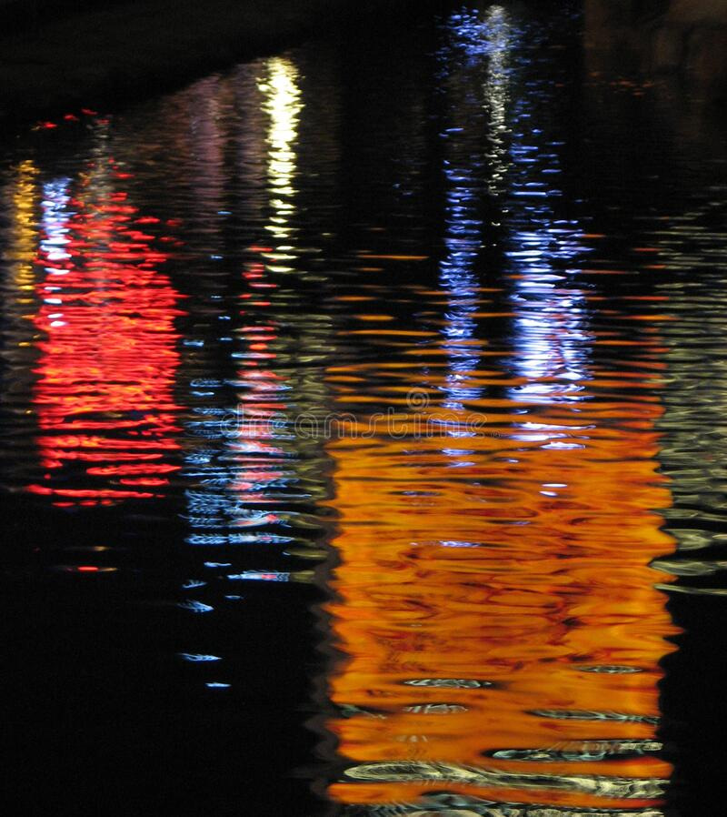 lights in water, Las Vegas 10 royalty free stock photo